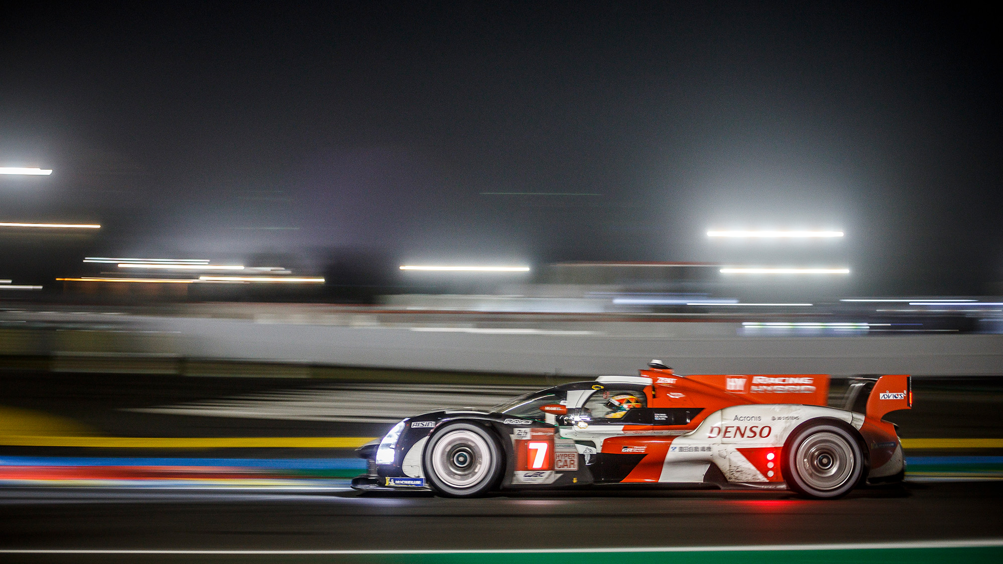 No7 Toyota during 2021 Le Mans 24 Hours