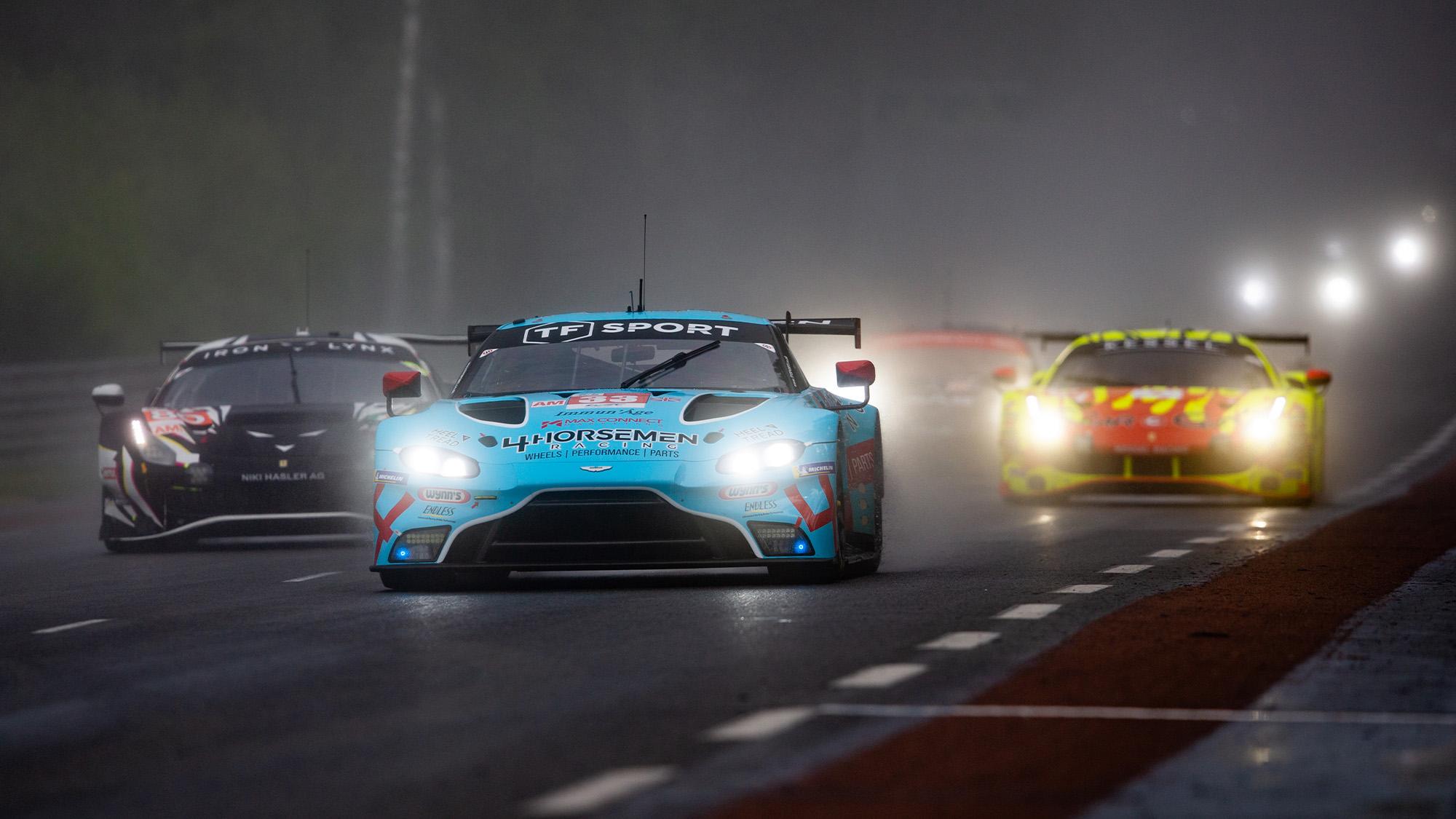 GTE Am battle at 2021 Le Mans 24 Hours