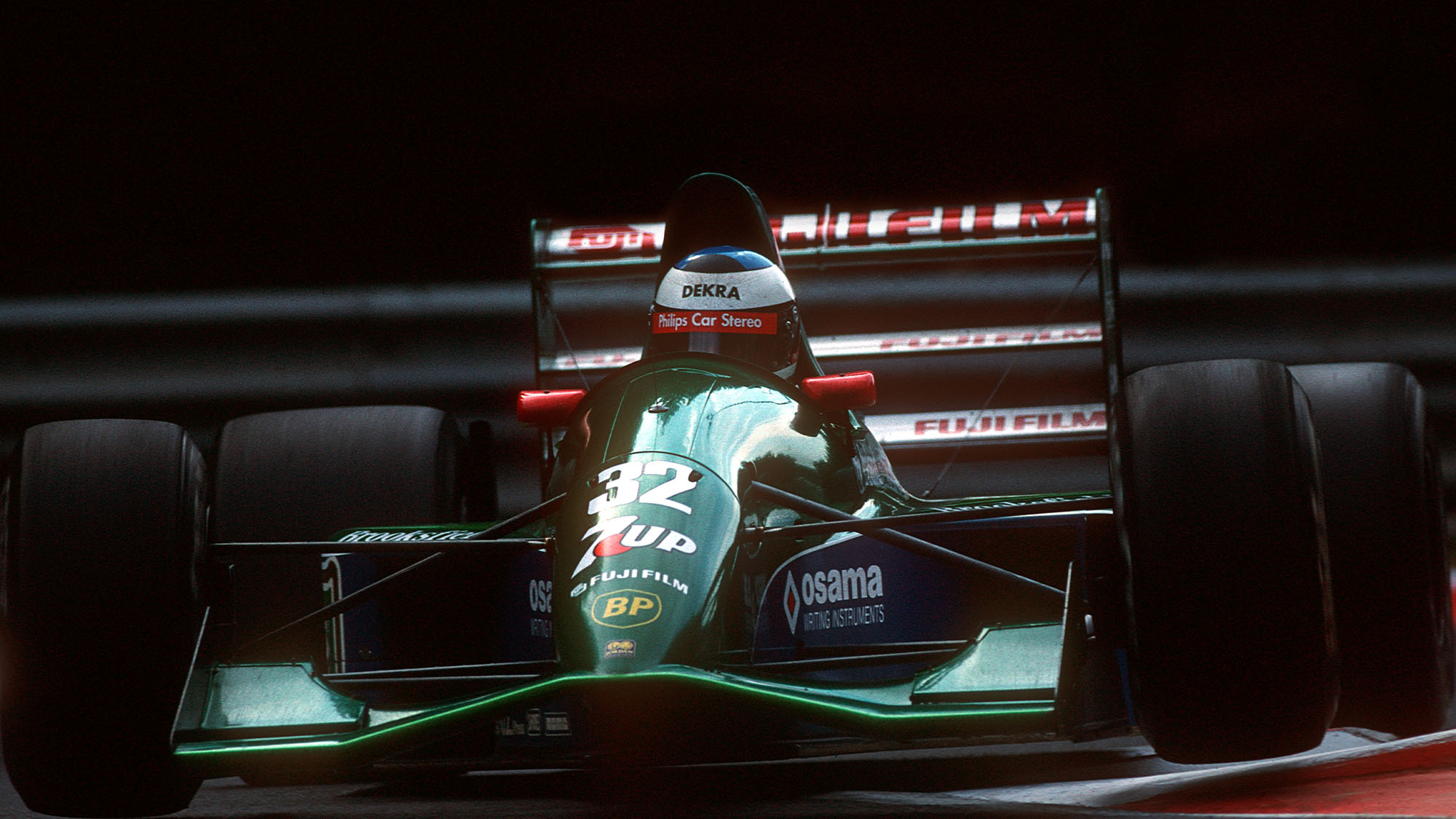 Michael Schumacher, Jordan-Ford 191, Grand Prix of Belgium, Spa Francorchamps, 25 August 1991. First Formula One race for Michael Schumacher. (Photo by Paul-Henri Cahier/Getty Images)