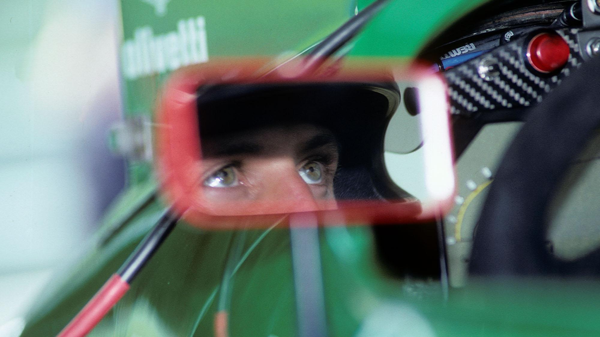 Michael Schumacher, Jordan-Ford 191, Grand Prix of Belgium, Spa Francorchamps, 25 August 1991. Michael Schumacher's eyes show his concentration. (Photo by Paul-Henri Cahier/Getty Images)