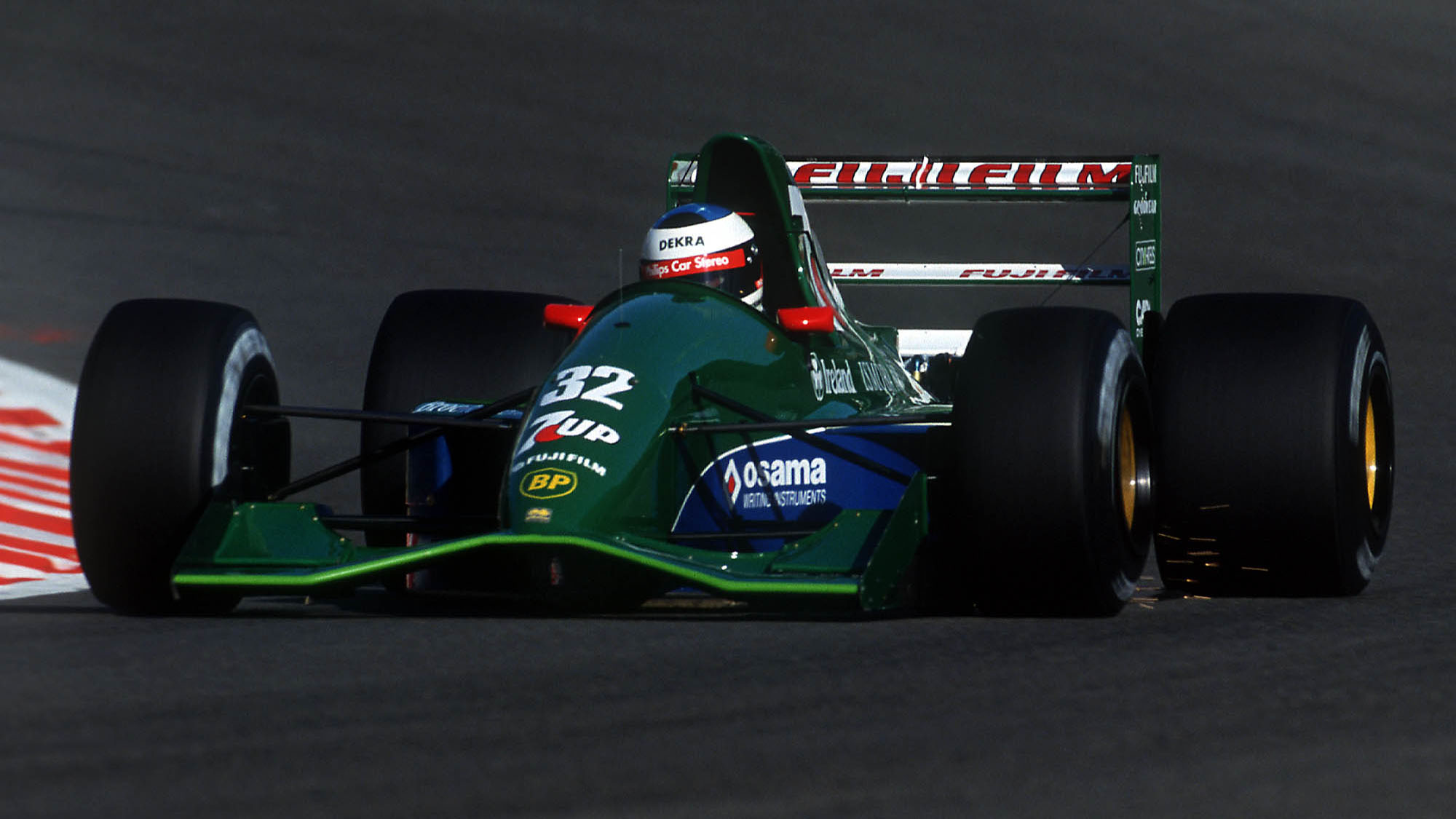 AUTO - F1 1991 - BELGIUM - SPA FRANCORCHAMPS - PHOTO: ERIC VARGIOLU / DPPI MICHAEL SCHUMACHER (GER) / JORDAN FORD - FIRST GP ACTION Reference: 00000520_005
