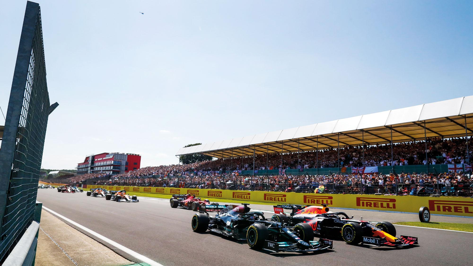 Start of the 2021 British Grand Prix