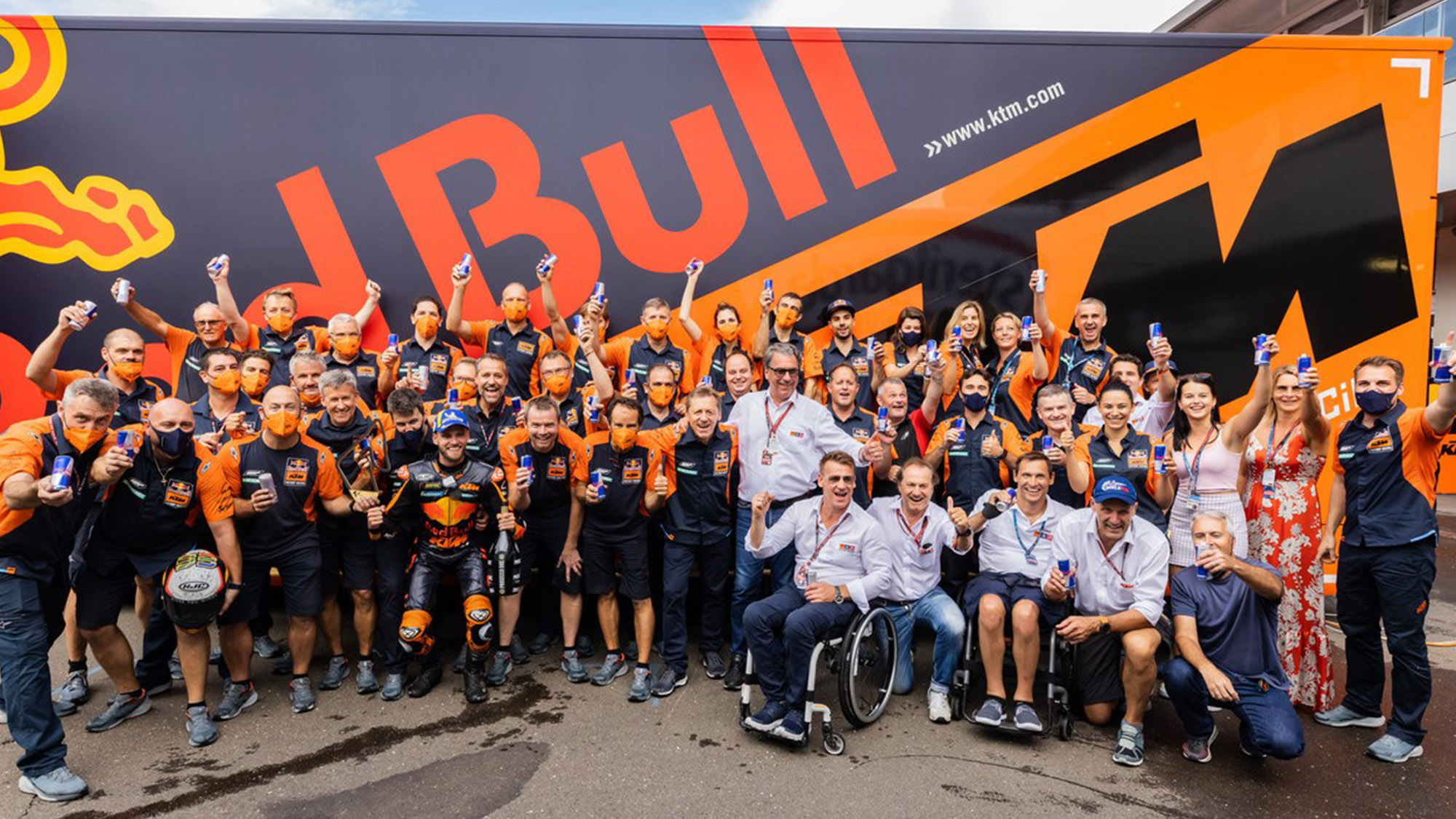 KTM celebrations at the Red Bull Ring 2021