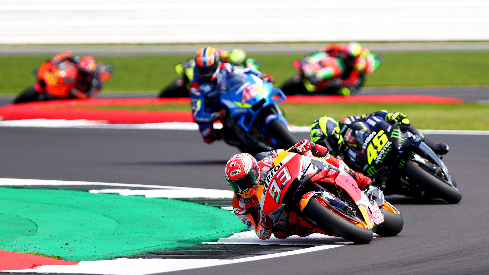 Marc Marquez, Valentino Rossi, 2019 British MotoGP