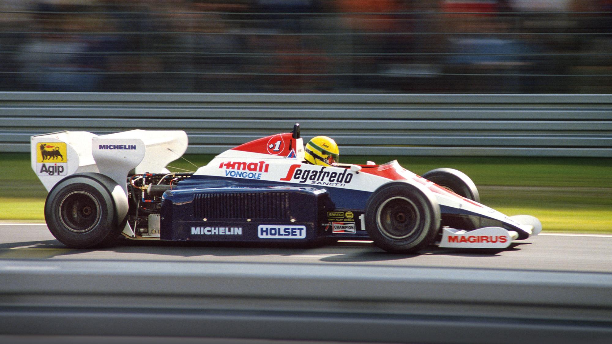 Toleman of Ayrton Senna