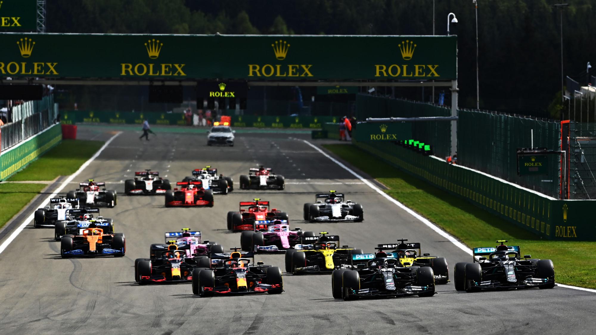 2020 Belgian GP start