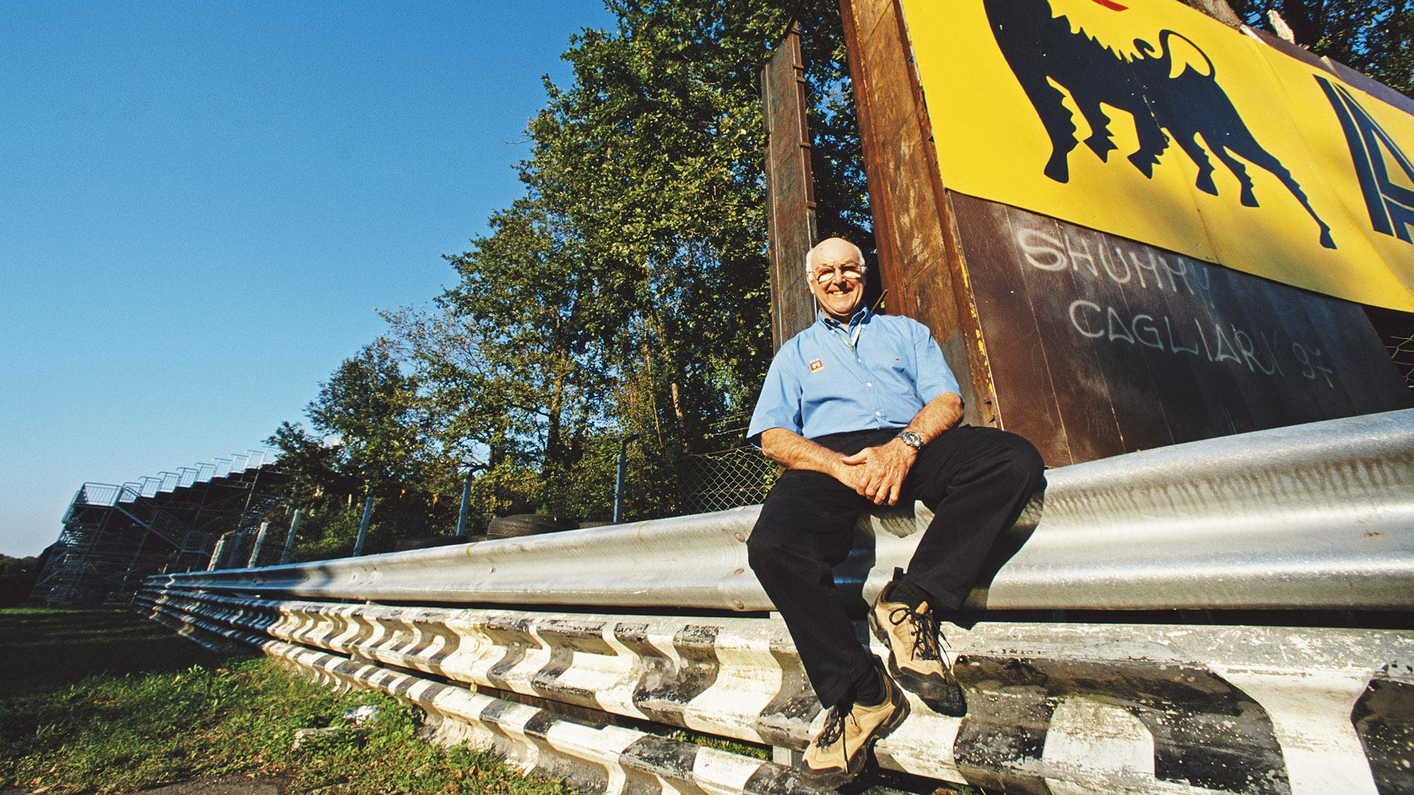 Murray Walker at Monza in 2001
