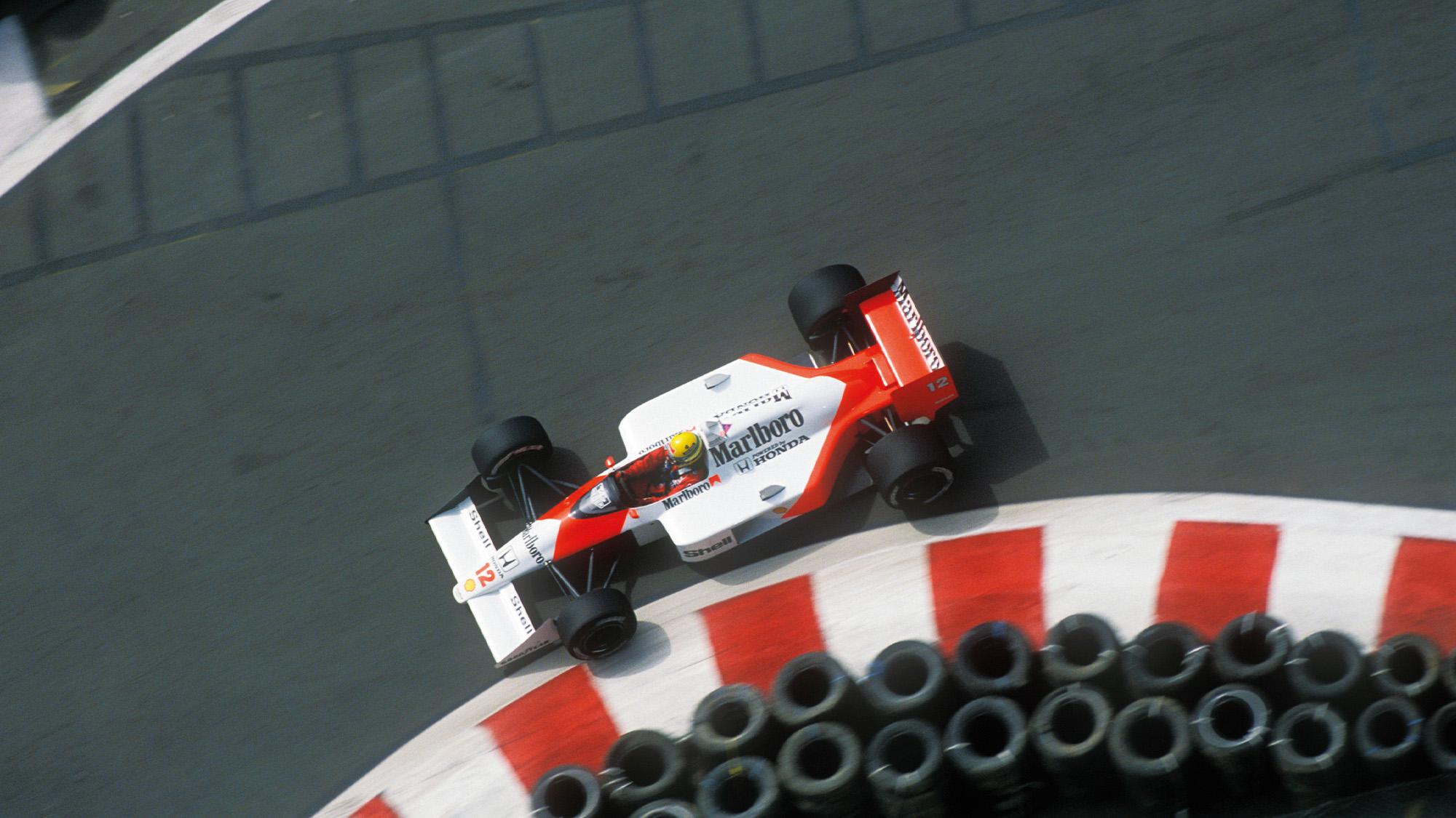 McLaren of Ayrton Senna at Detroit