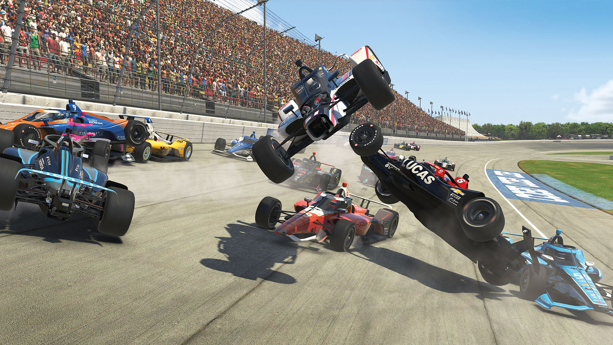 iRacing oval crash