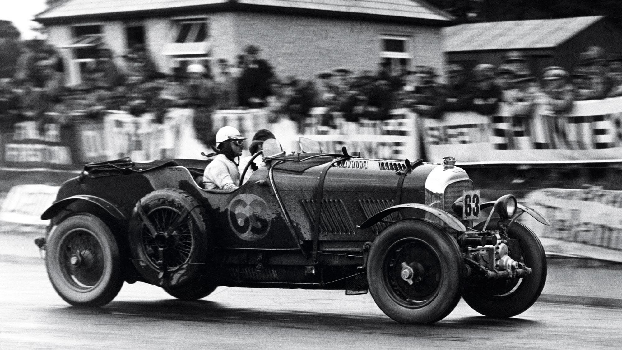 TIm Birkin in his Blower Bentley at the 1929 Ards TT