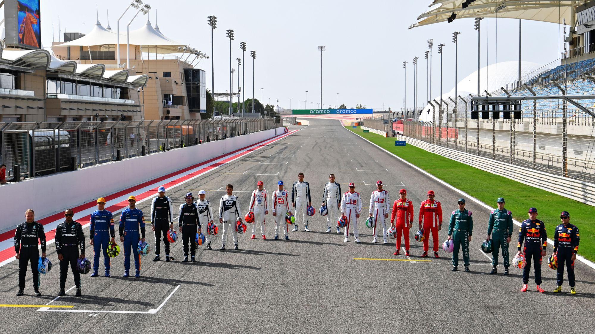2021 Formula 1 grid