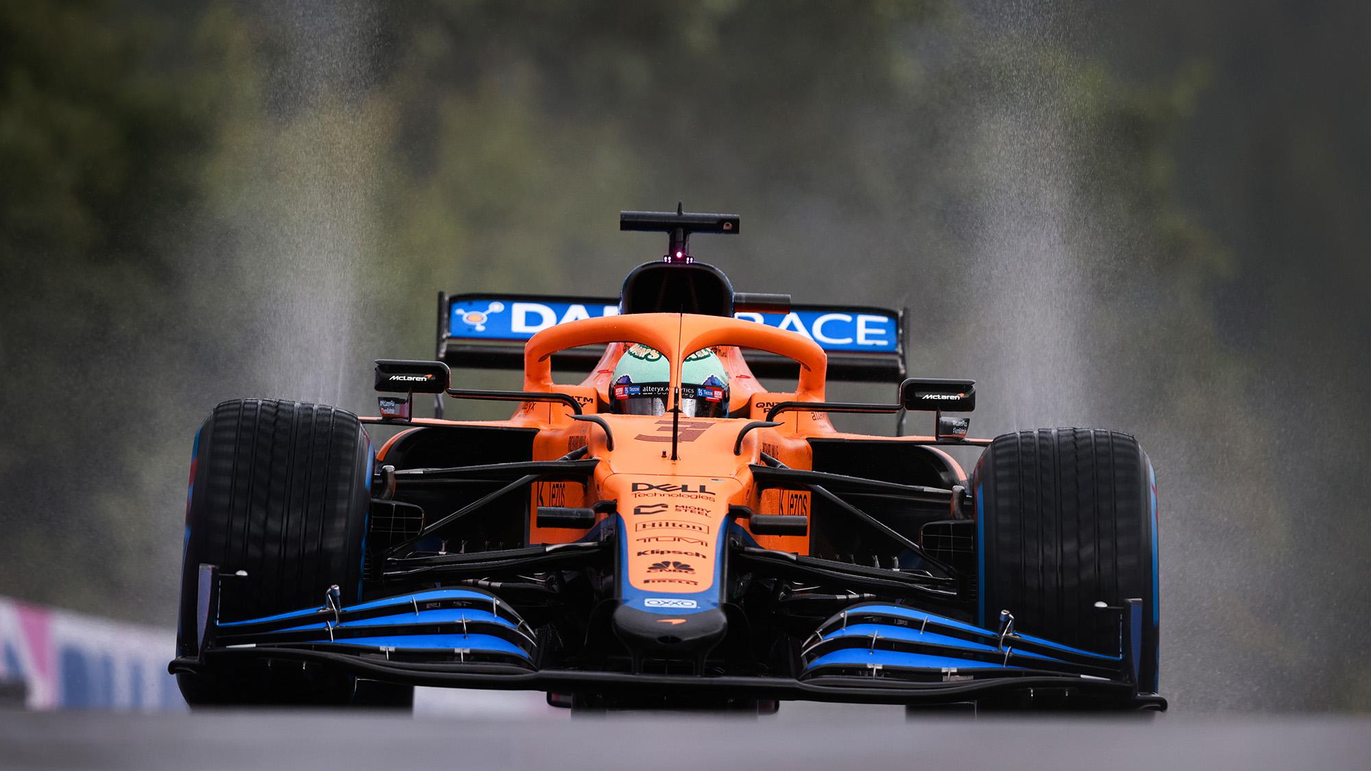 Daniel Ricciardo in qualifying for the 2021 Belgian Grand Prix