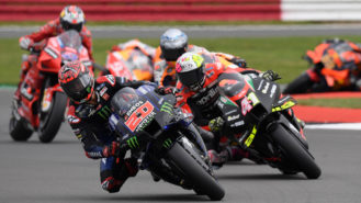 British MotoGP: Quartararo surfs towards the title while his main rivals drown in a sea of tyre troubles