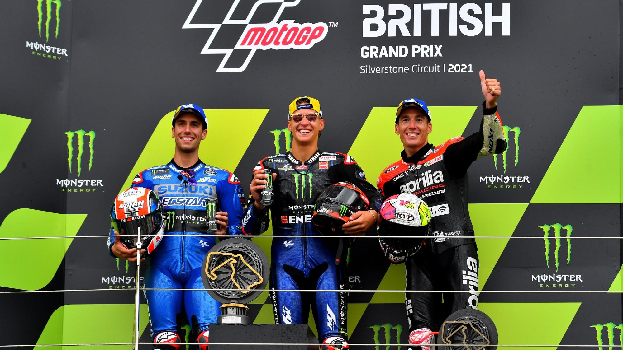 British MotoGP: after ten years of trying Italian underdog Aprilia scores its first MotoGP podium - Motor Sport