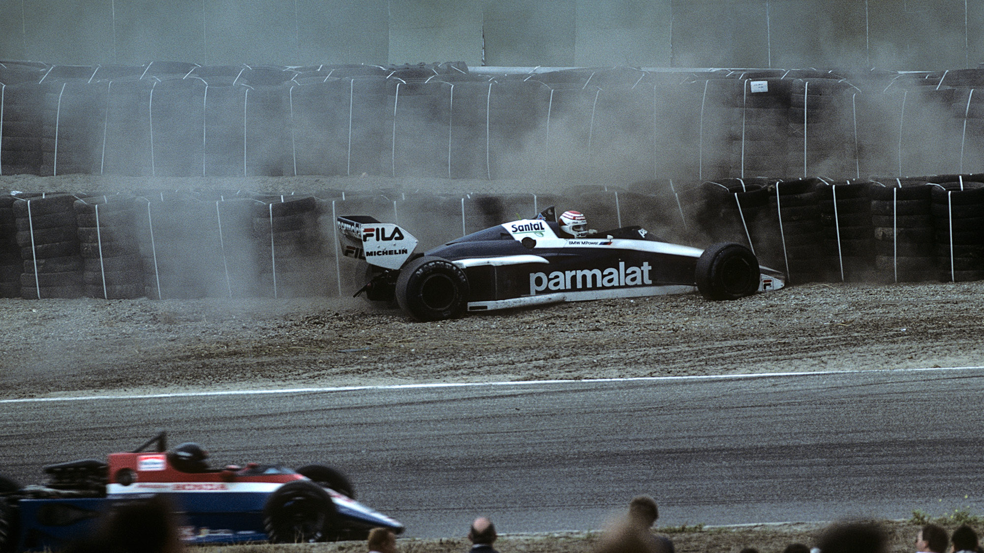 Nelson Piquet crashes out at Zandvoort in 1985