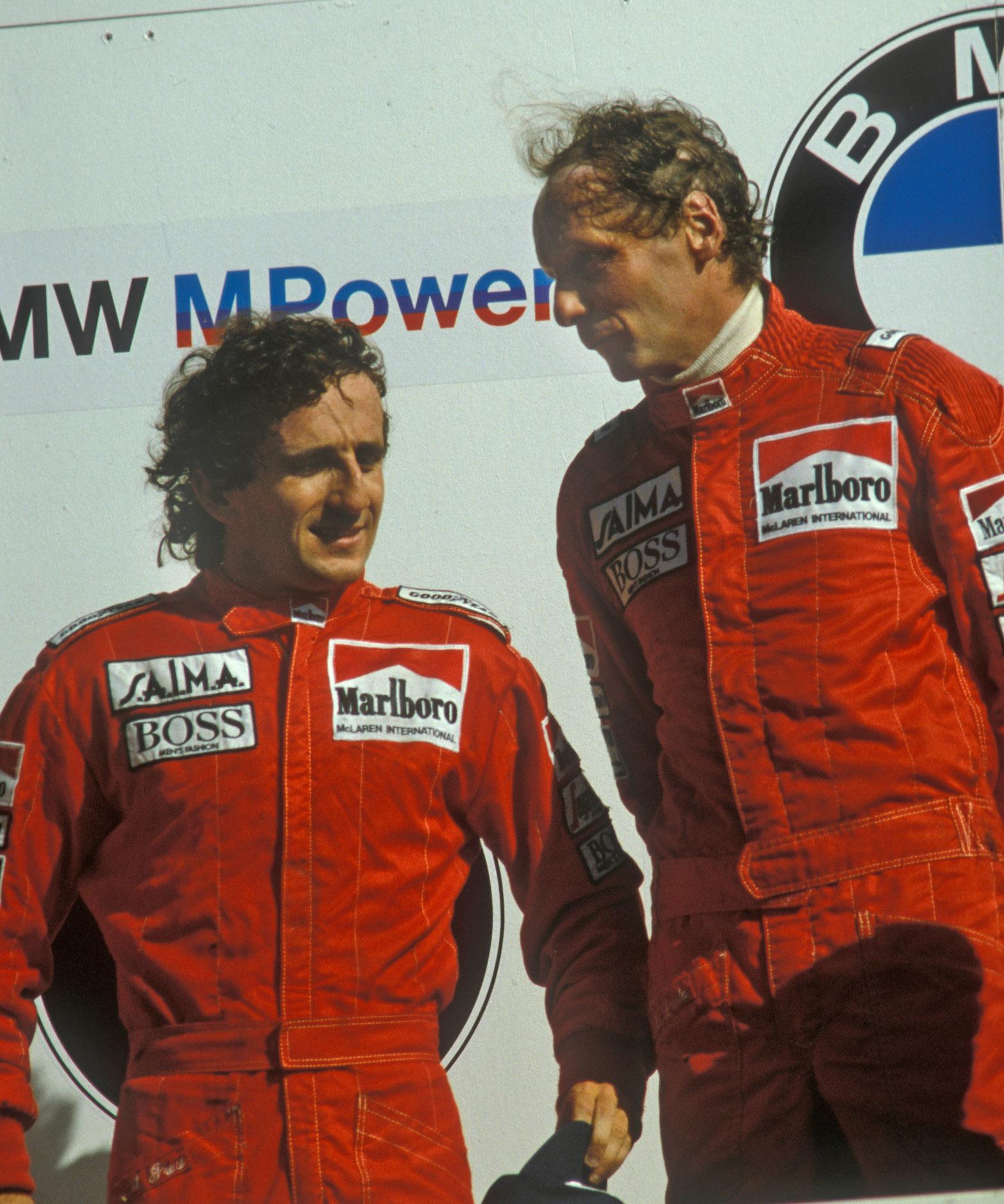 Alain-Prost-and-Niki-Lauda-on-the-Zandvoort-podium-in-1985