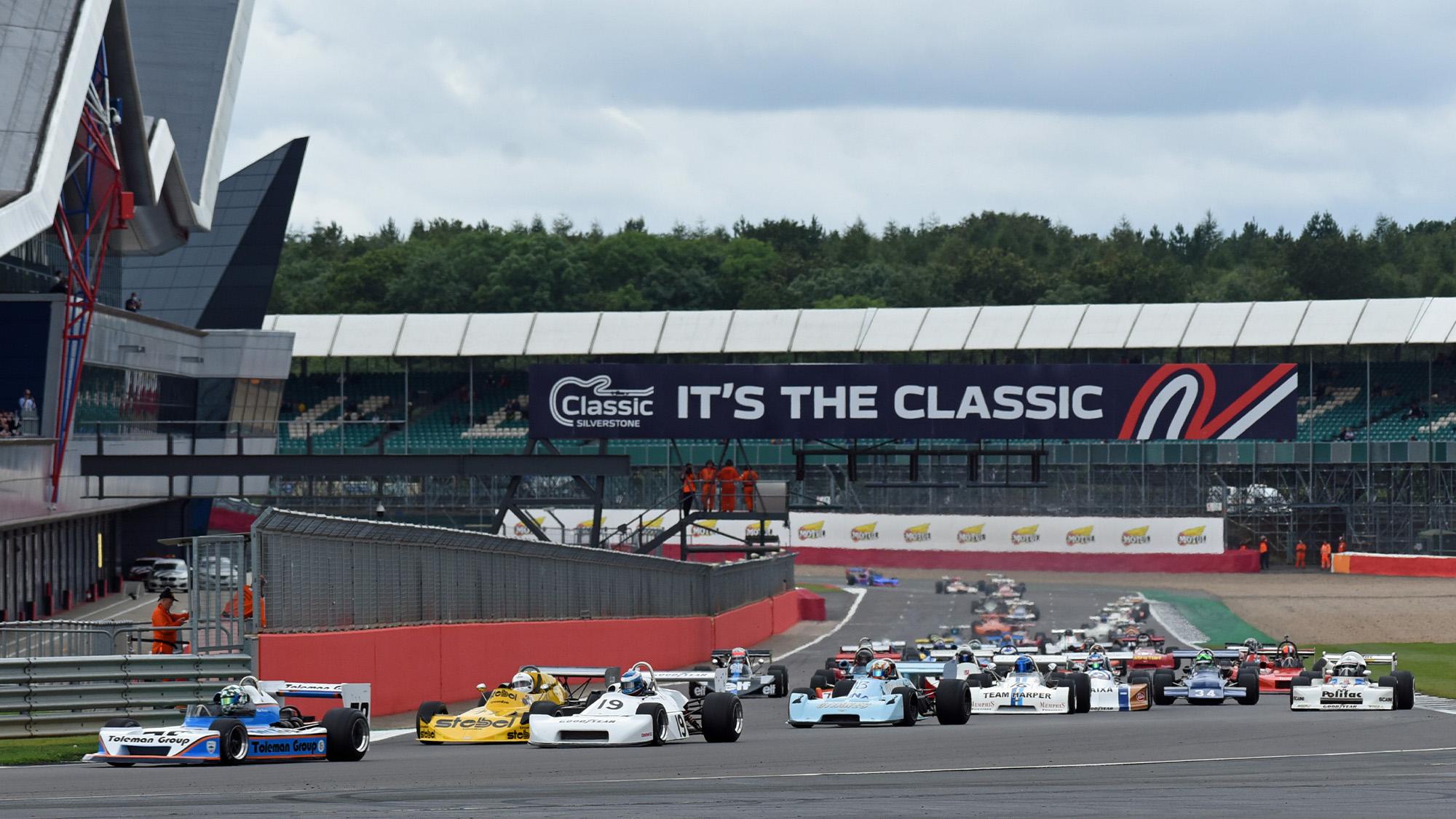 Formula 2 cars at Silverstone