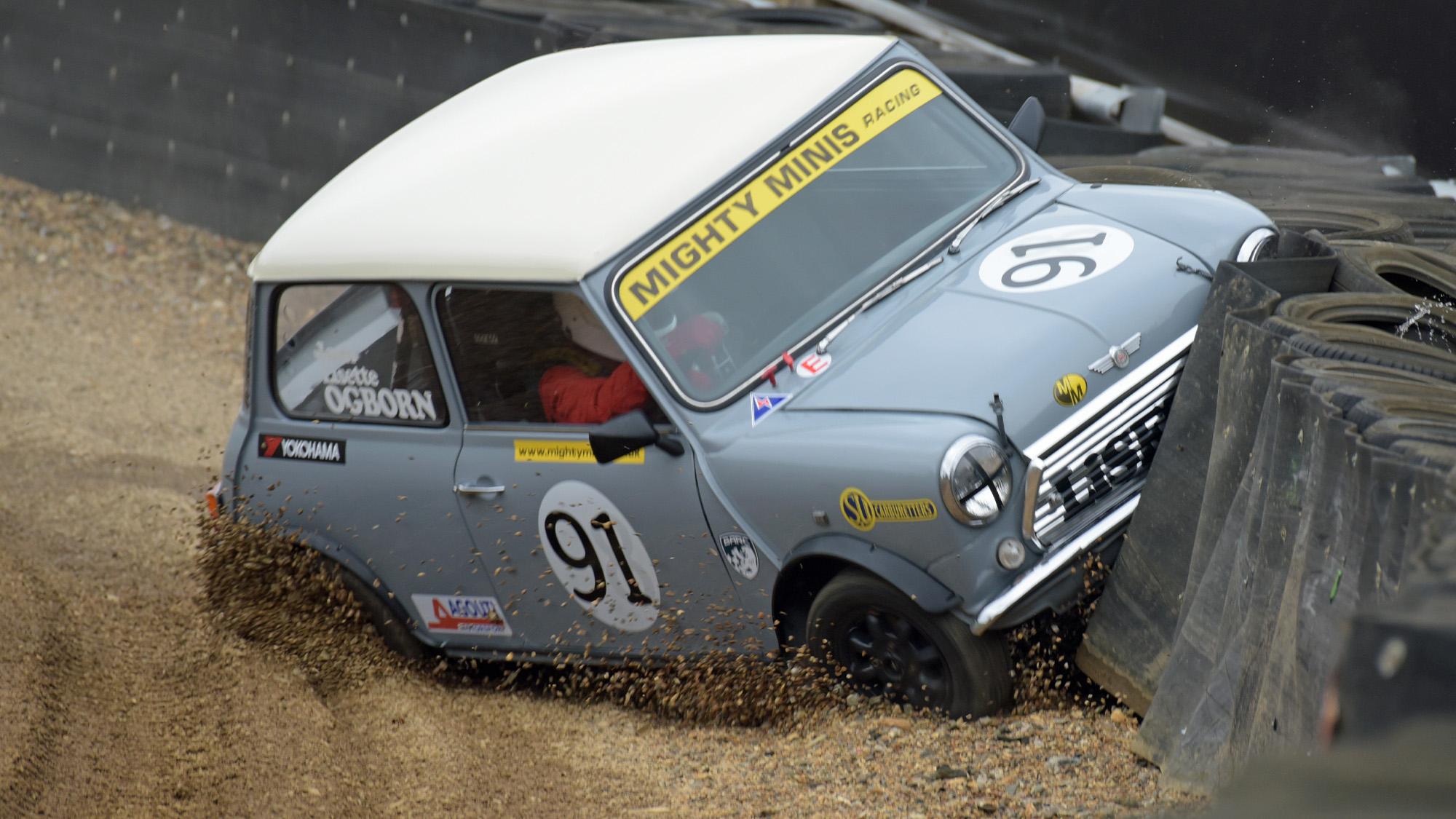 Crashed racing mini