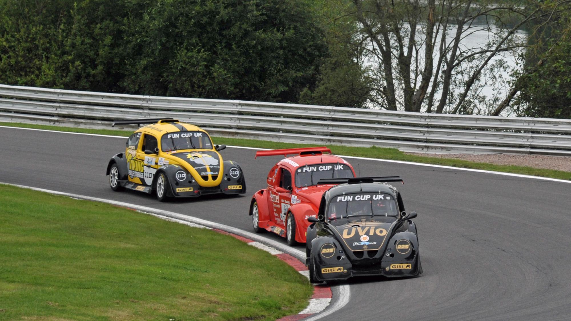 Racing VW Beetles in fun cup