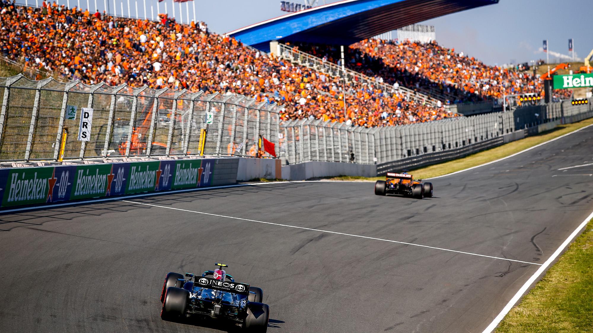 Valtteri Bottas in qualifying at Zandvoort 2021