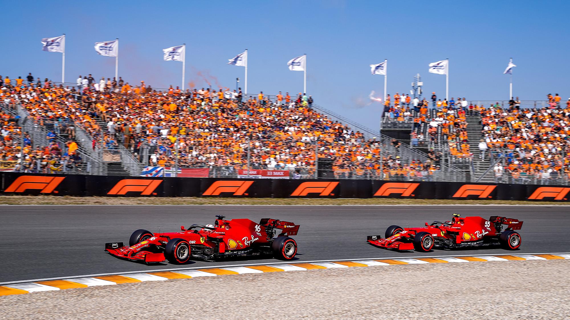 Charles Leclerc and Carlos Sainz at Zandvoort