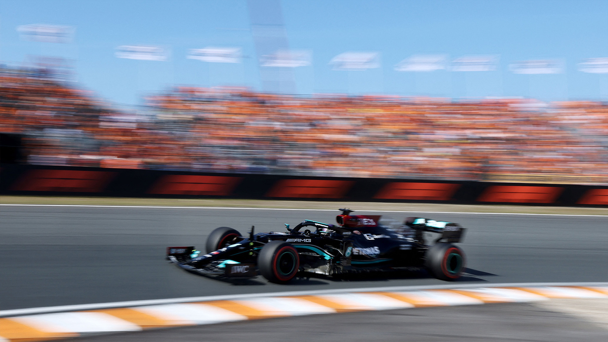 Lewis Hamilton in qualifying for the 2021 Dutch GP