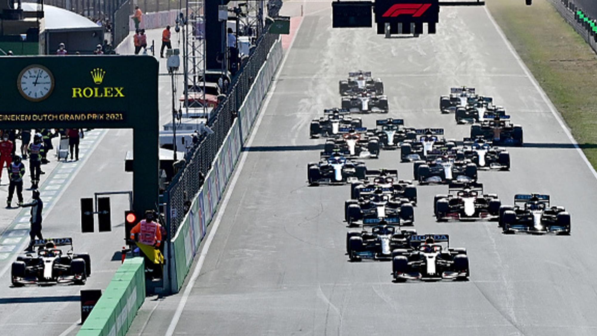 Start of the 2021 Dutch Grand Prix