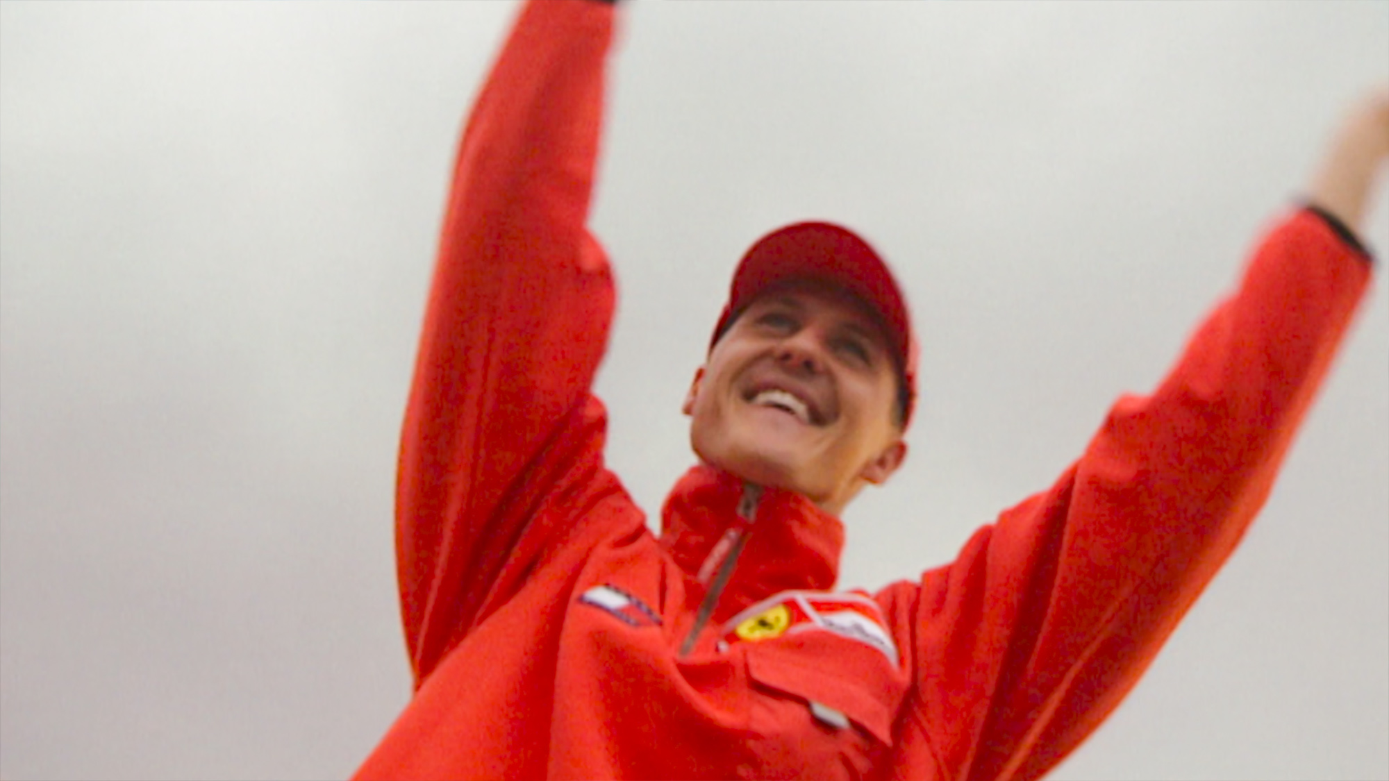 Michael Schumacher with hands in the air