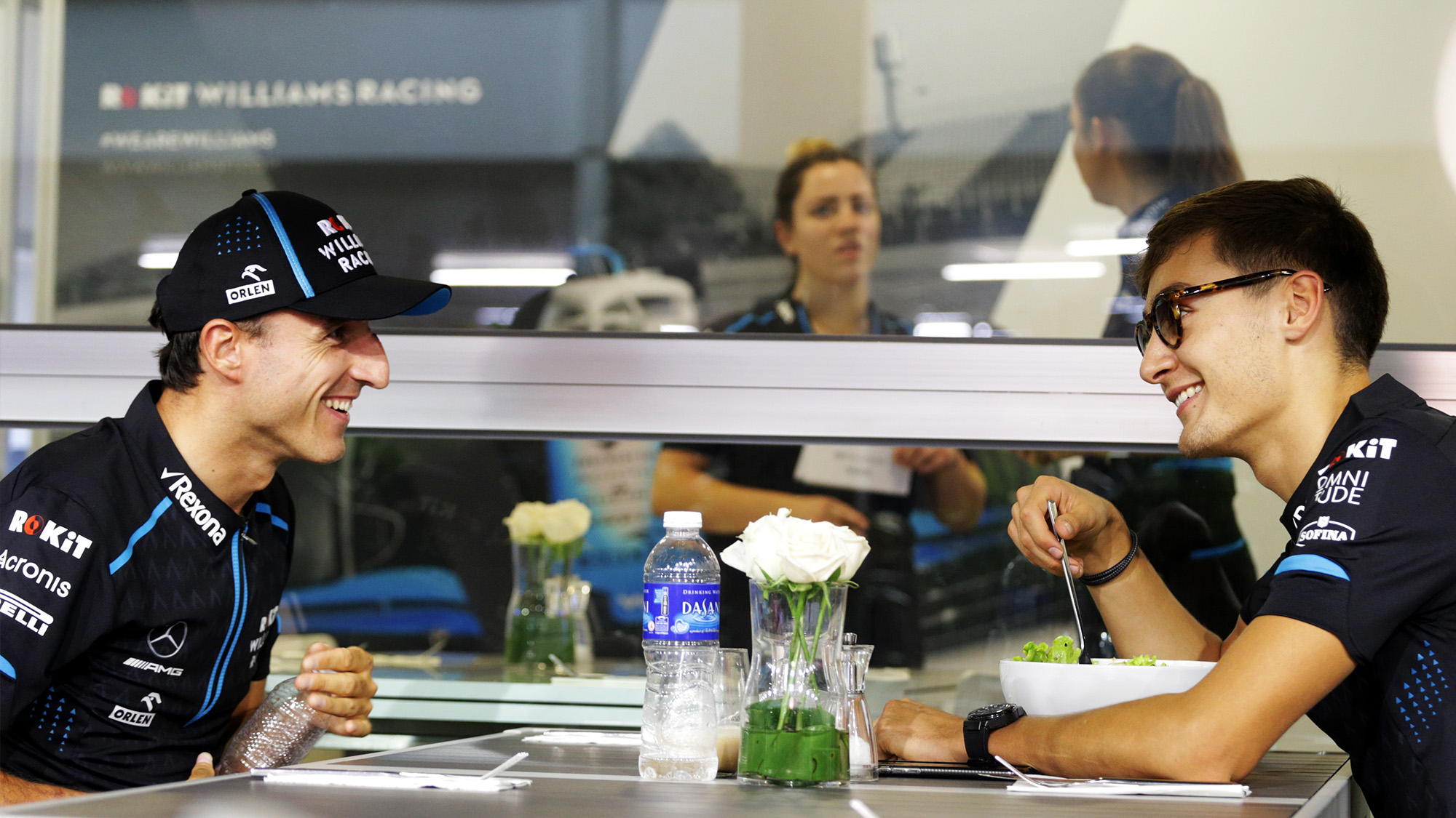 George Russell with Robert Kubica