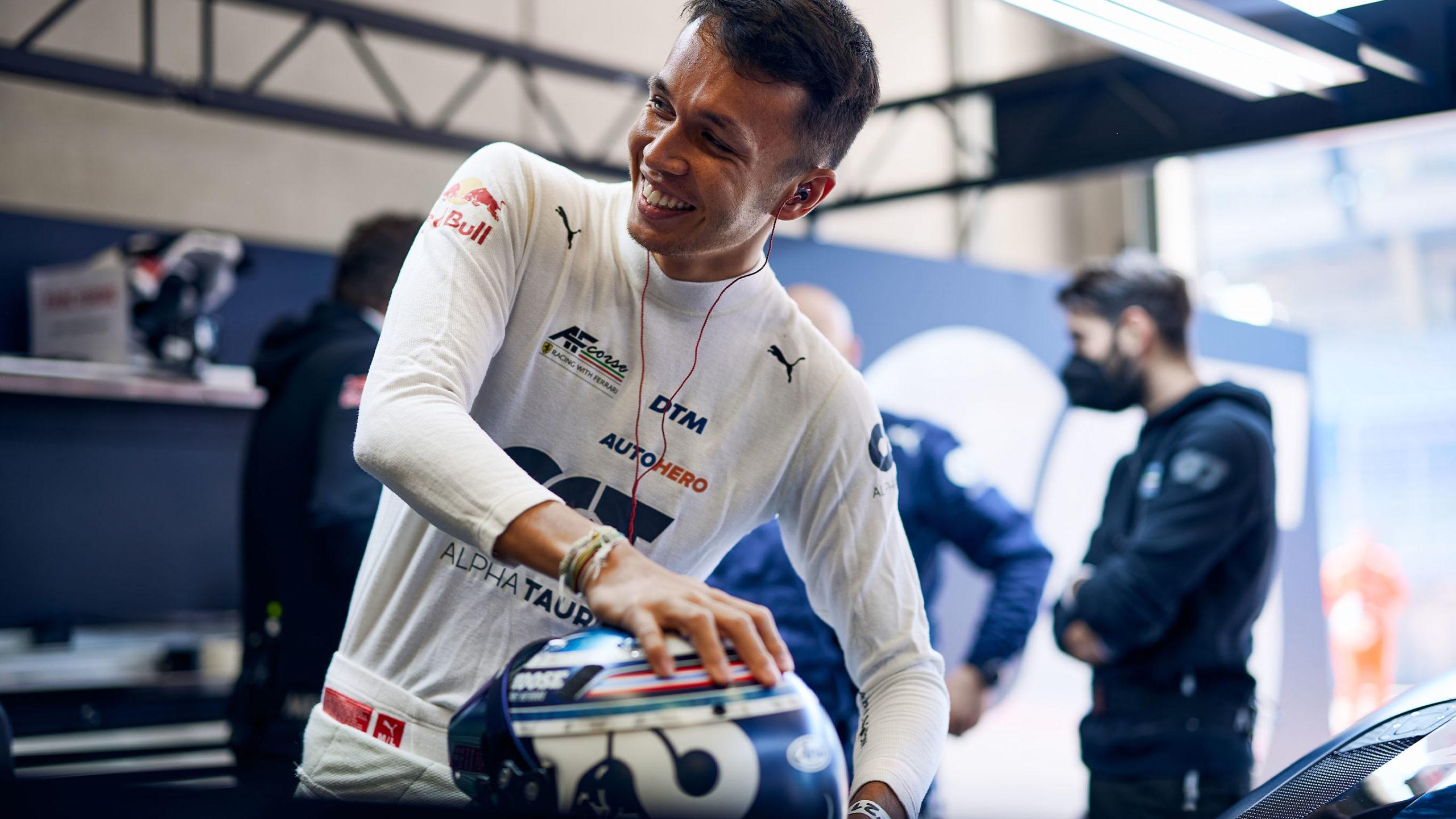 Alex Albon in DTM garage 2021