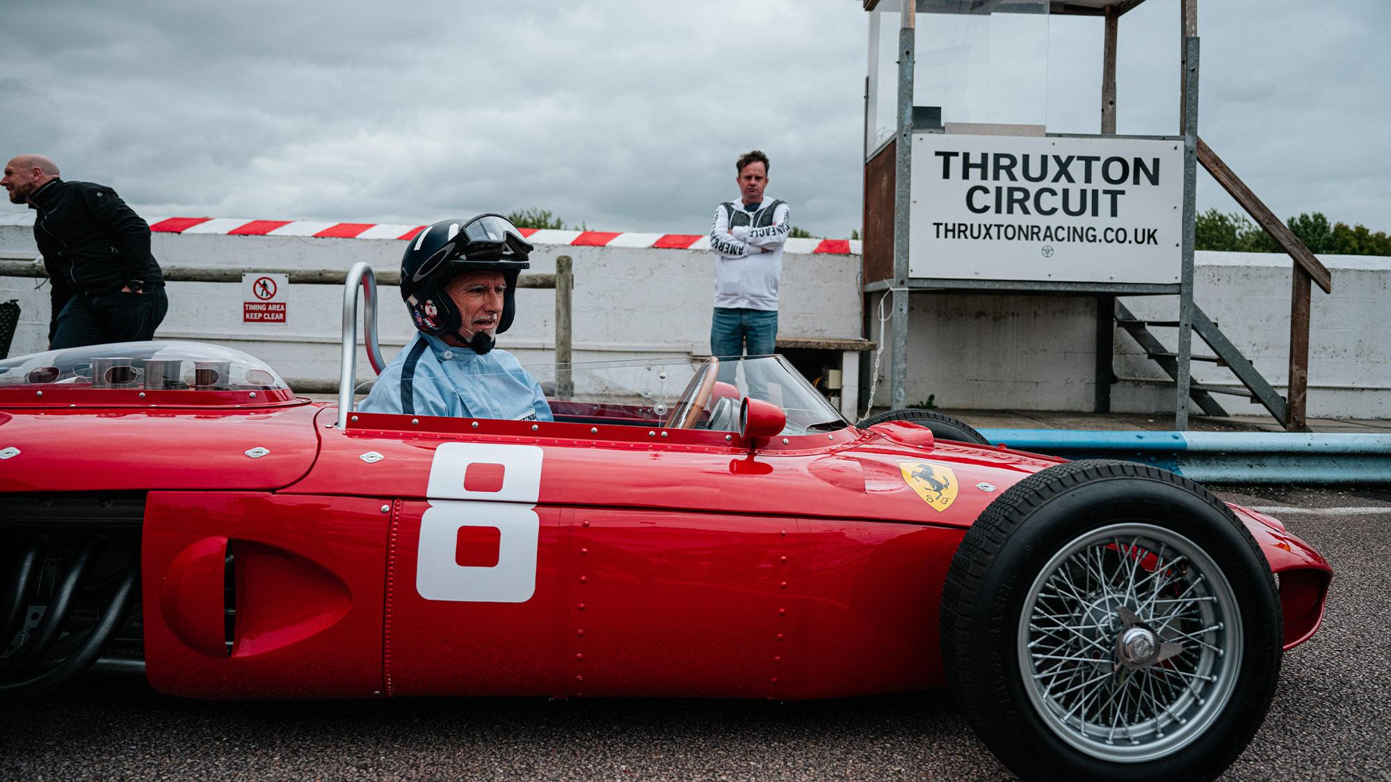 Damon Hill in Ferrari Sharknose