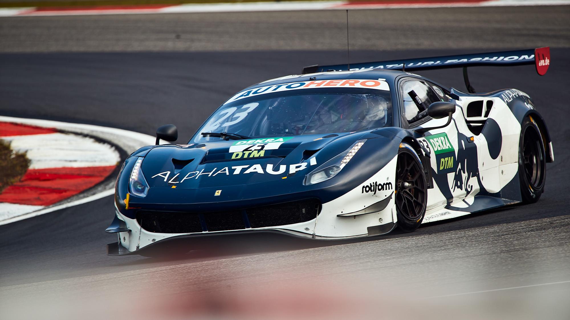 Alex Albon in Af Corse DTM Ferrari 488