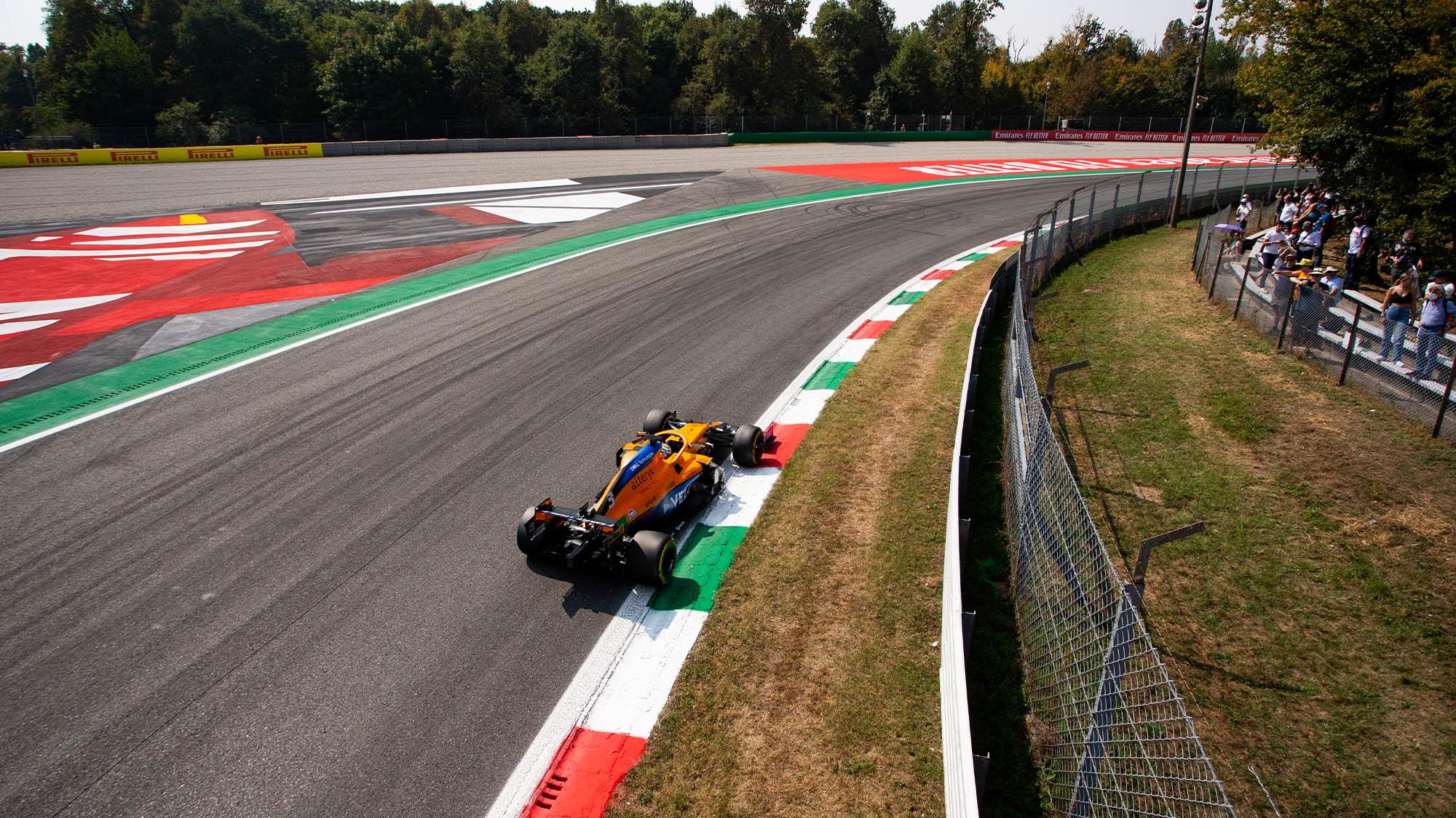 McLaren of Daniel Ricciardo at Monza