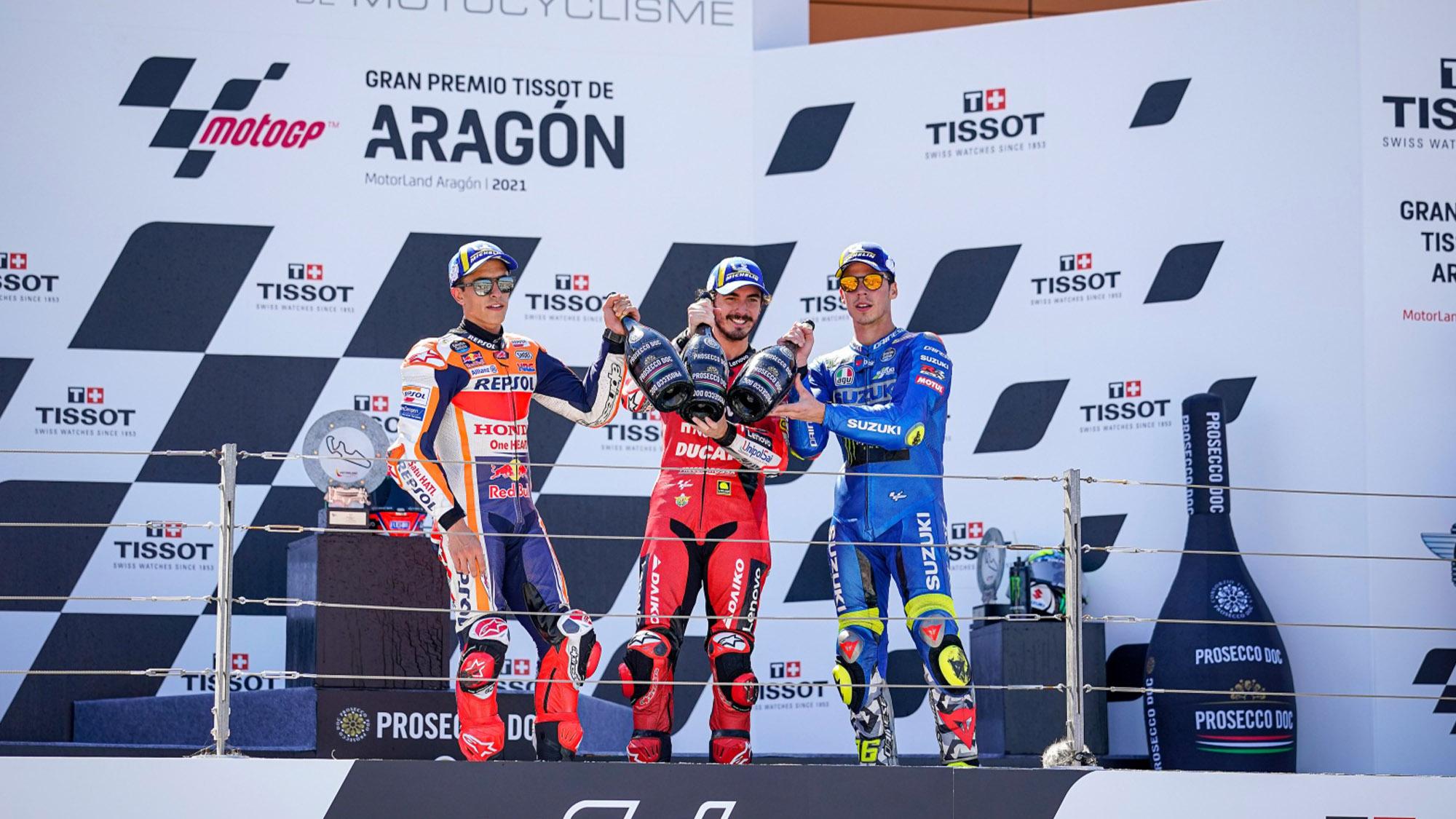 MotoGP Aragon podium 2021