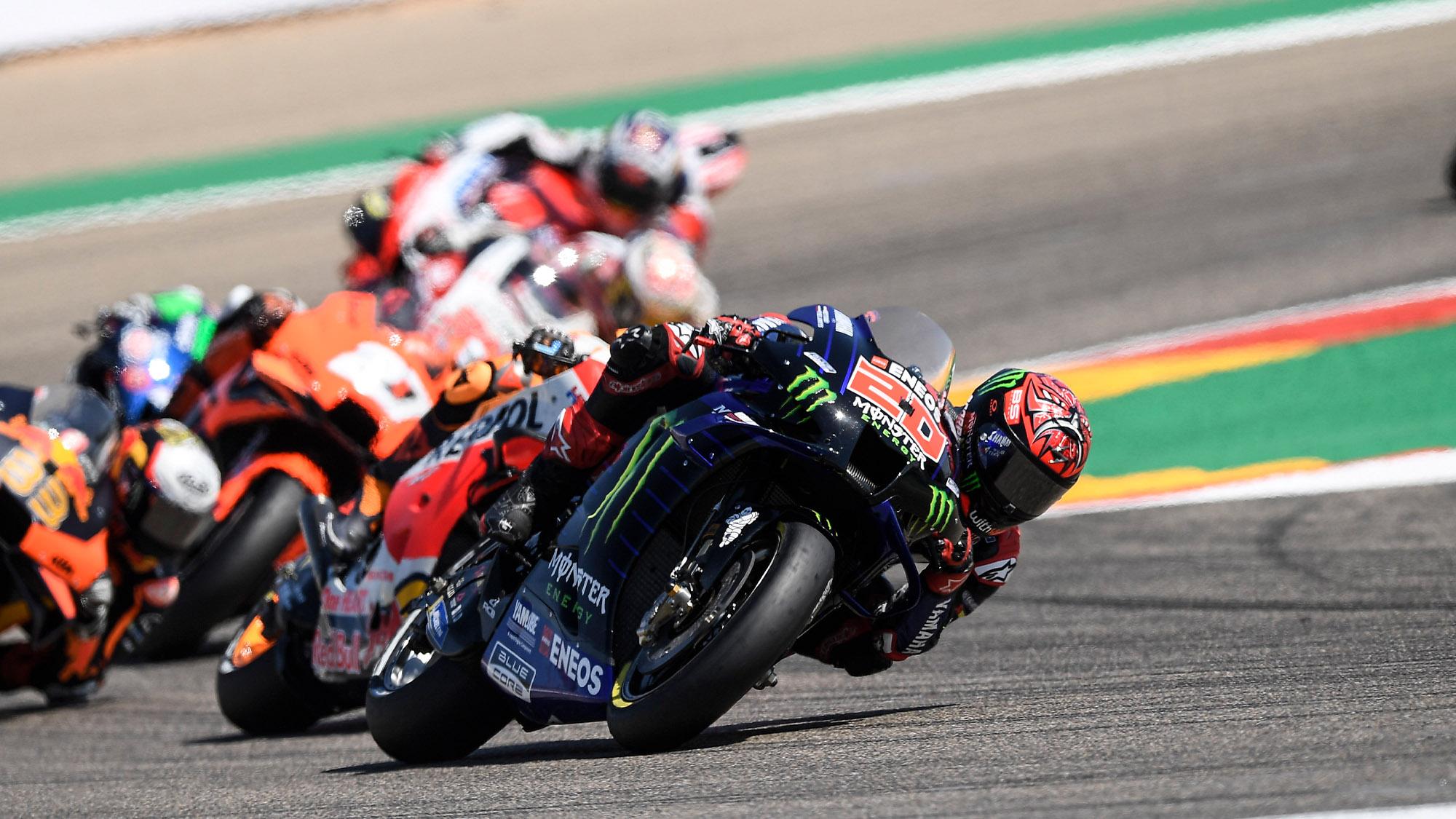 Quartararo at Aragon MotoGP 2021