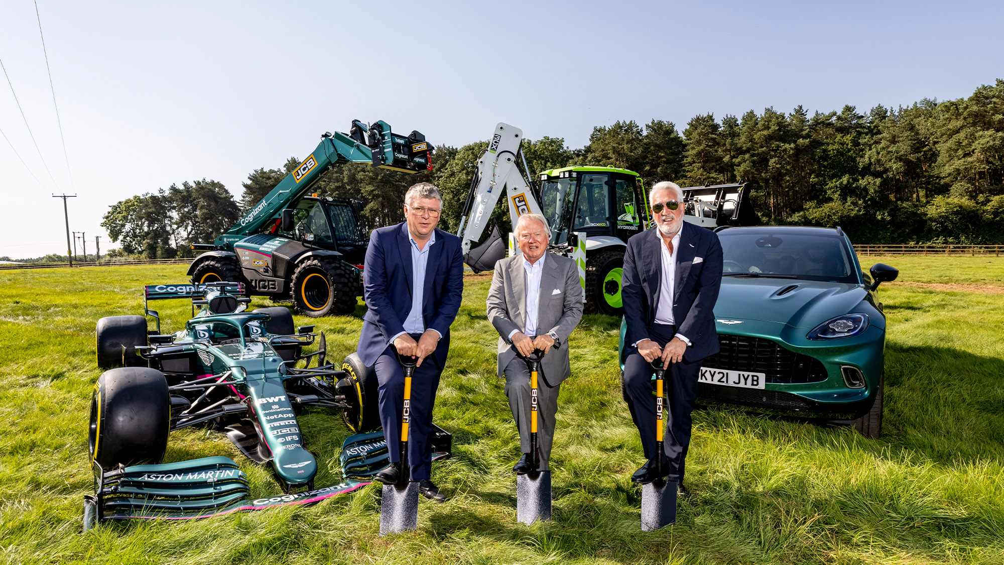 Breaking ground on the new Aston Martin F1 factory