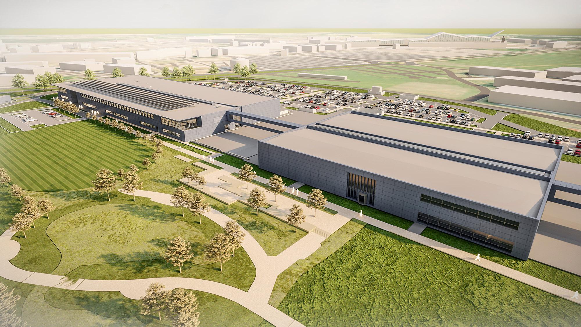 Aston Martin F1 factory digital image