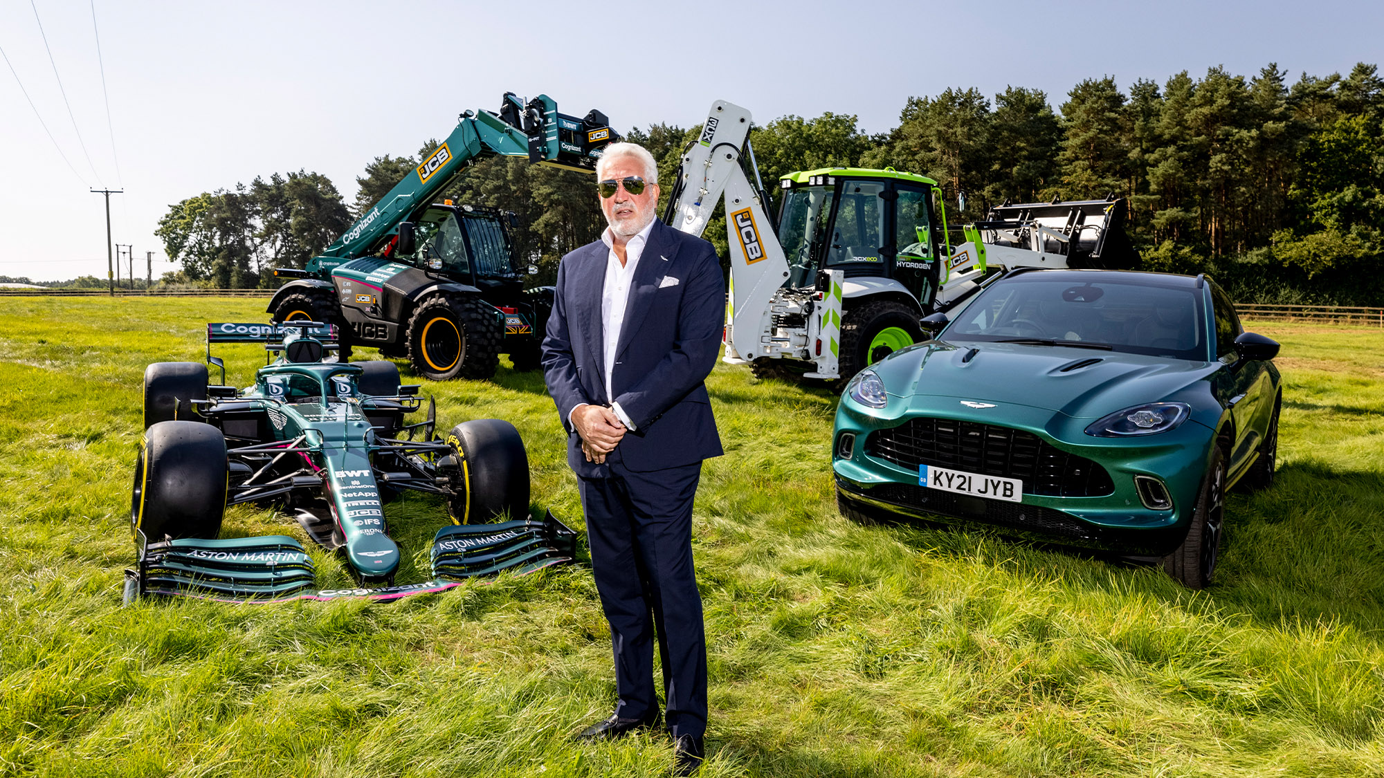 Lawrence Stroll on the site of the new Aston Martin F1 factory