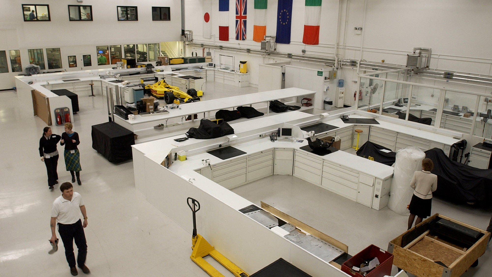 Jordan F1 factory in 2002