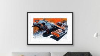 WIN a Lando 2021 Monaco Limited Edition Print
