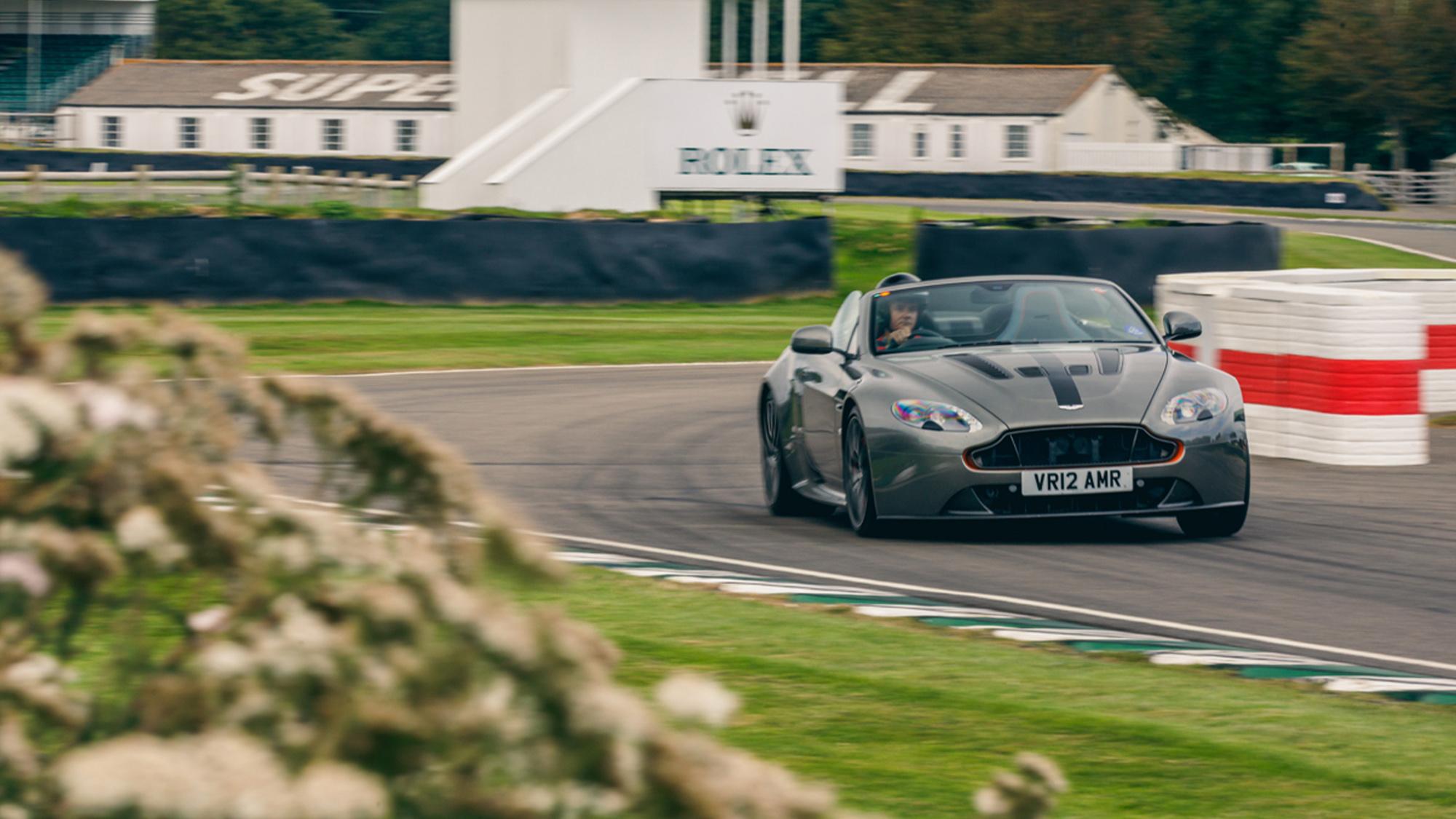 Aston Martin Motor Sport track day at Goodwood