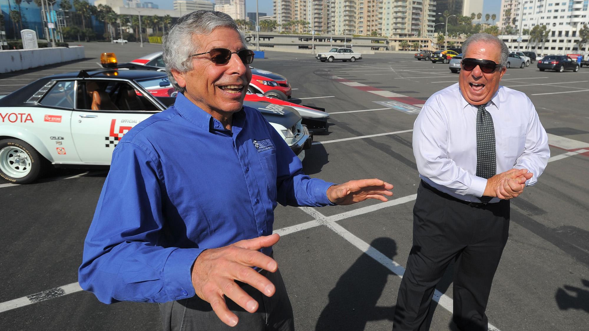 Jim Michaelian with Long Beach mayor Bob Foster