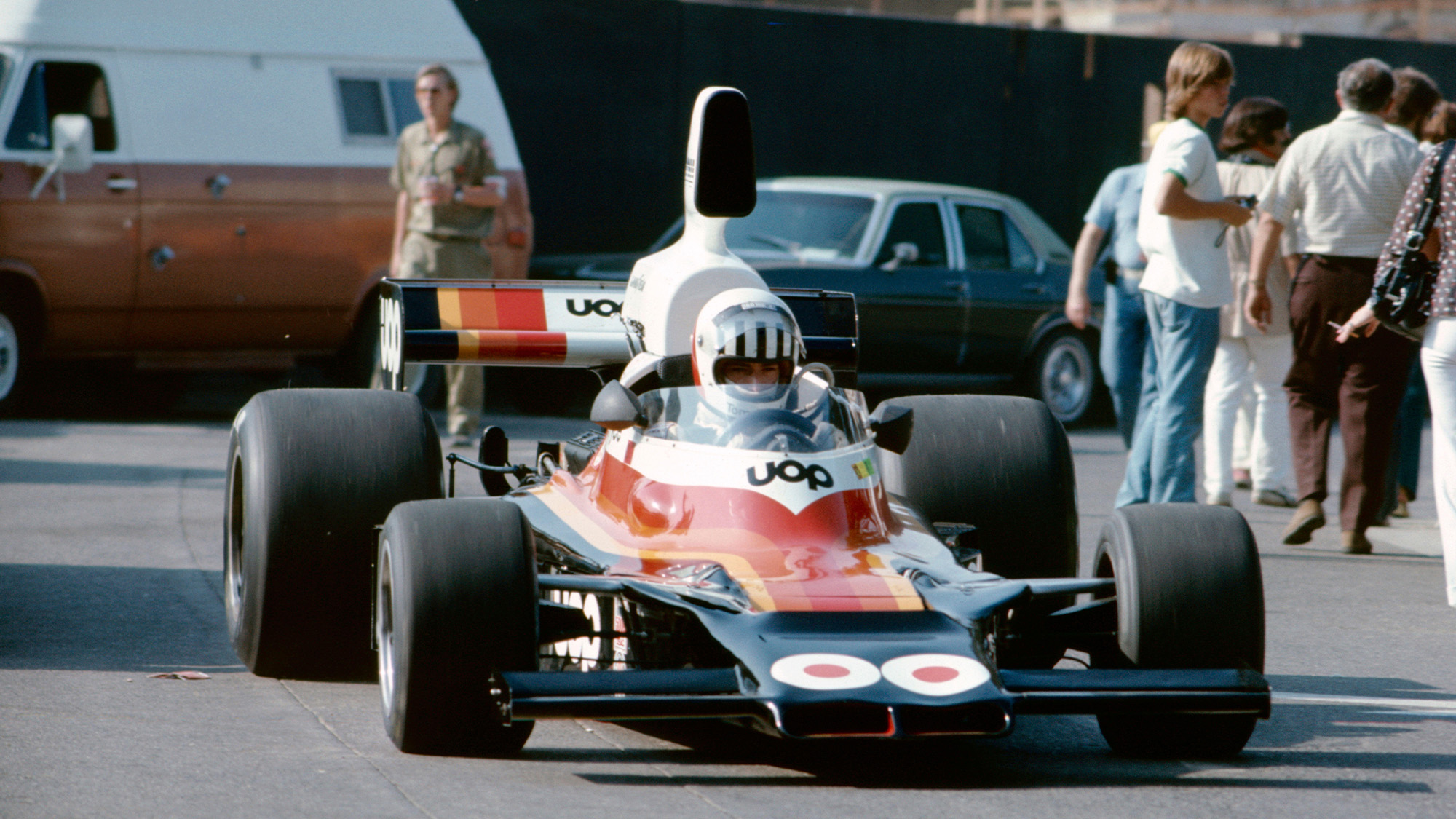 Tom Pryce in F5000 1975 Long Beach Grand Prix