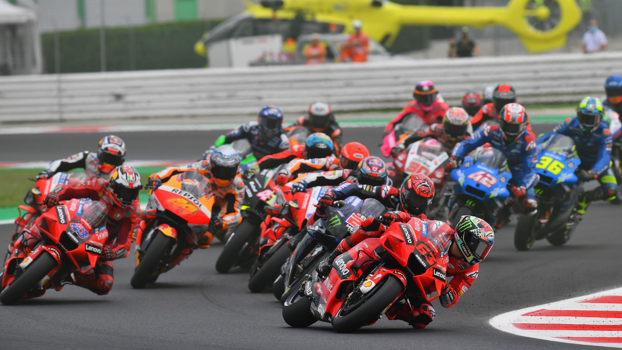 2021 MotoGP Misano lap one