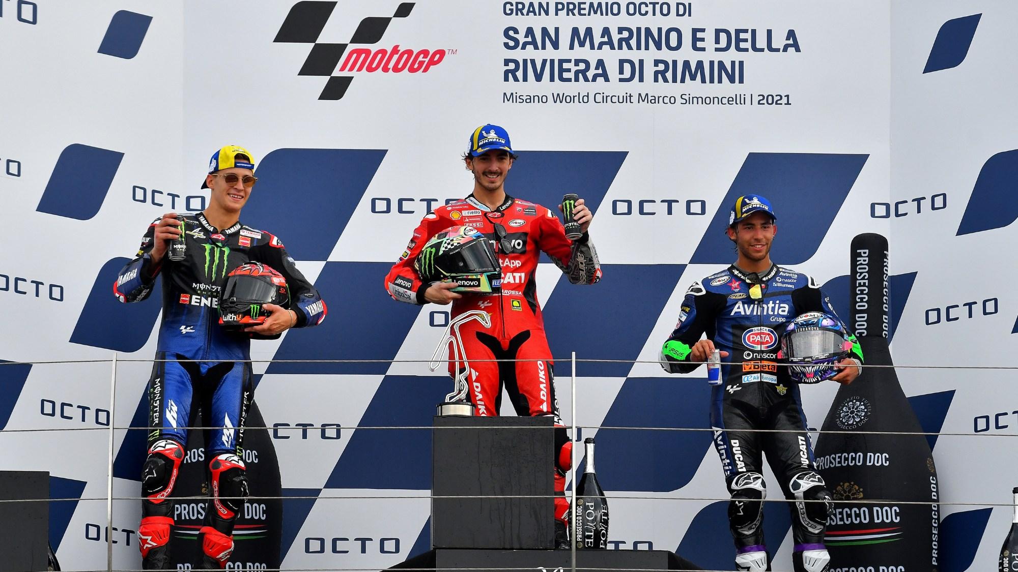 Misano 2021 podium