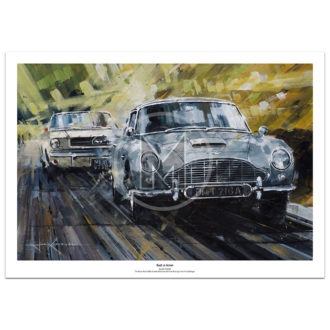 Product image for Back In Action | James Bond - Aston Martin | John Ketchell | Limited Edition print