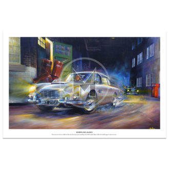 Product image for Barreling Along | James Bond - Aston Martin | Paul Dove | Limited Edition Print