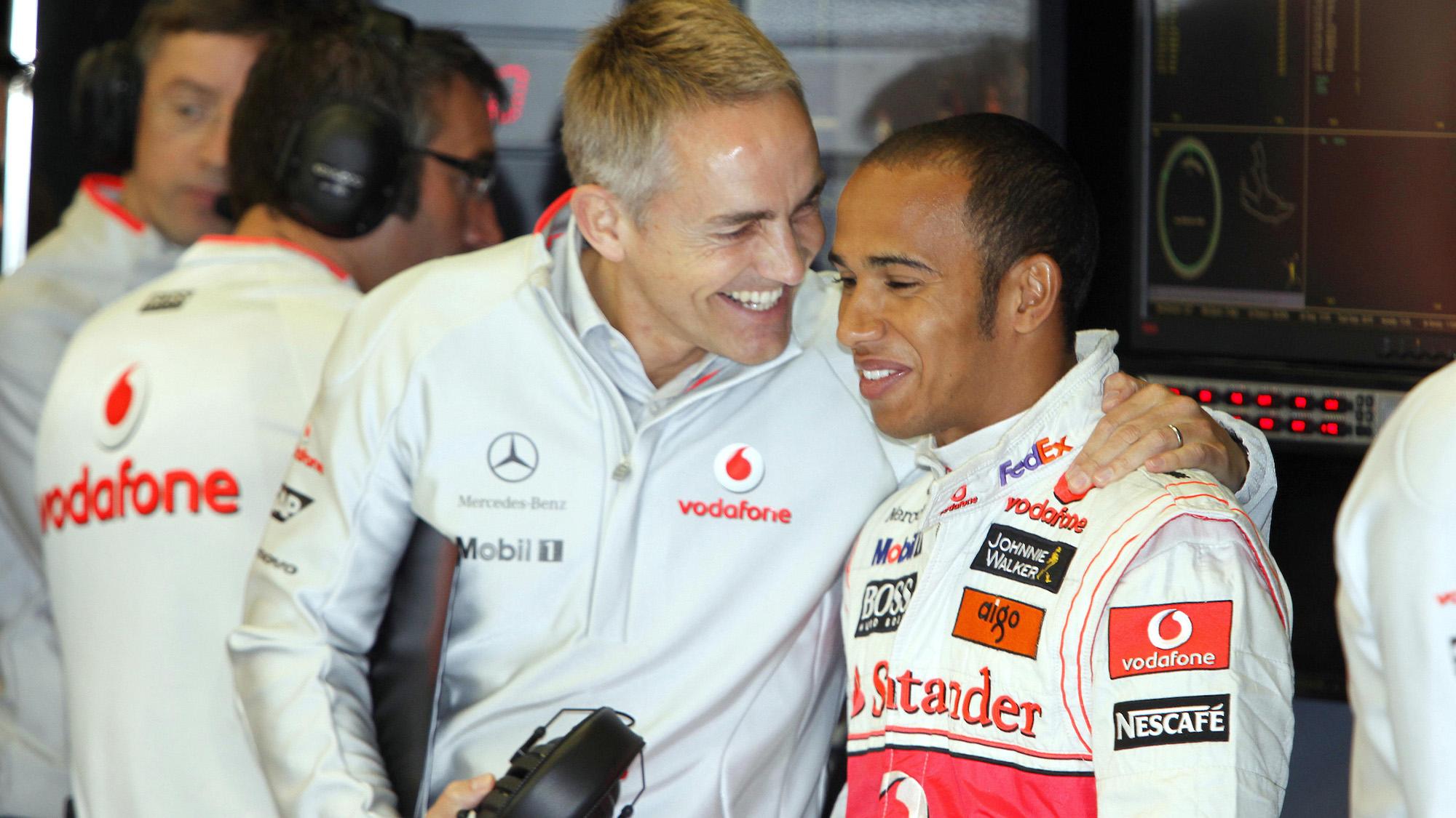 Martin Whitmarsh with Lewis Hamilton in 2009