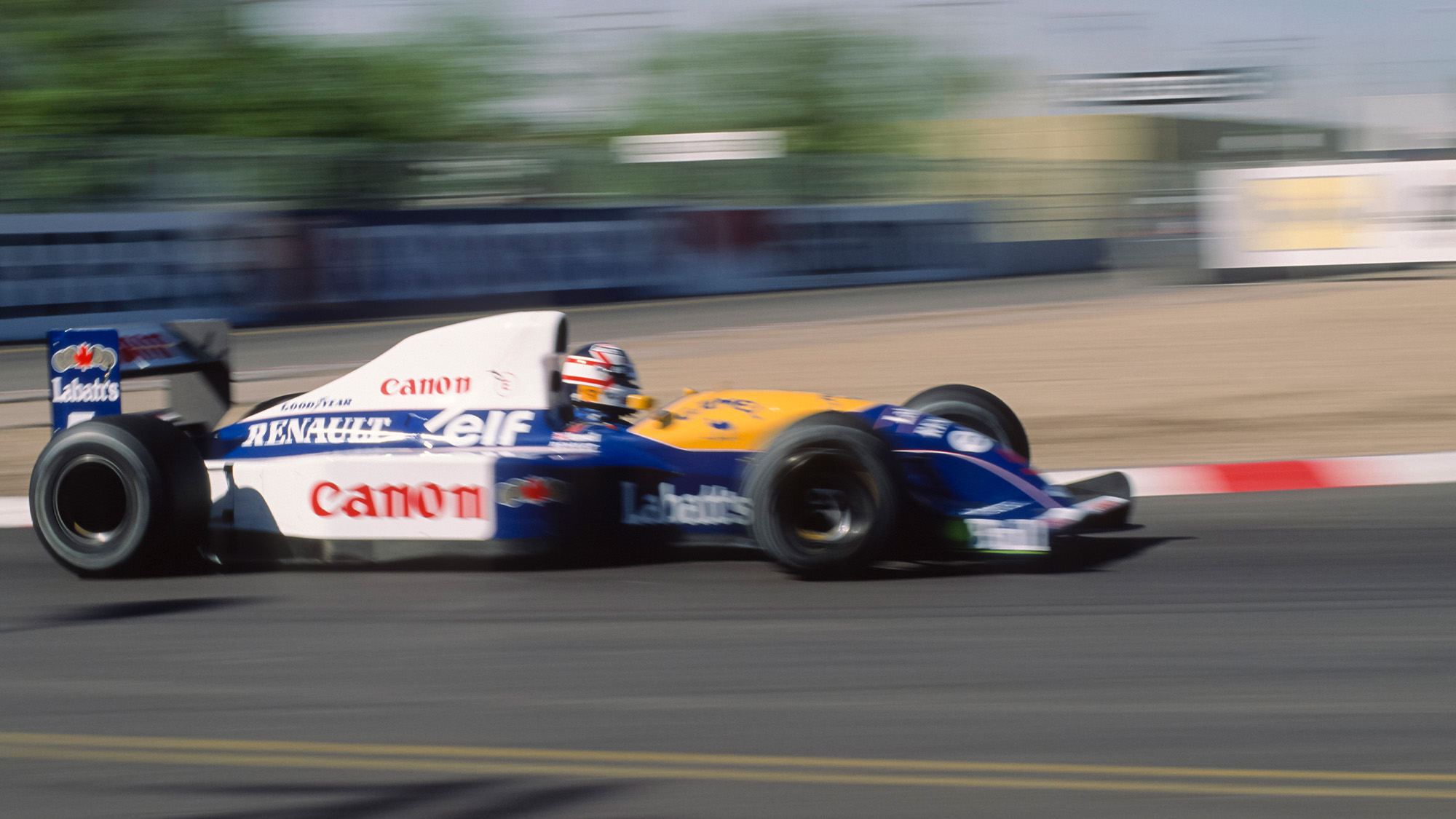 Nigel Mansell in the 1991 US Grand Prix