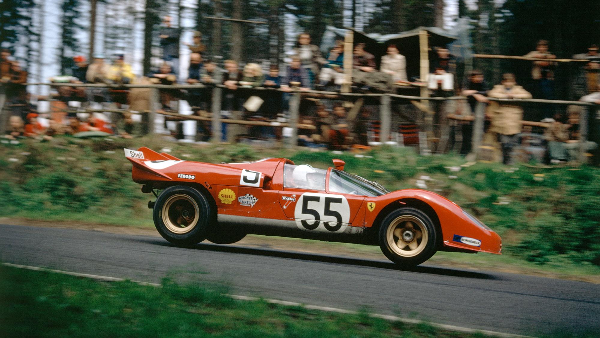 Ferrari 512S of Surtees and Vaccarella at the Nurburgring 1970